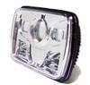 GENSSI 7×6 H6054 200mm LED Projector Headlights DOT Chrome Set