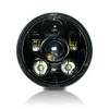 5.75 (5 3/4) In LED Black Projector Headlight Round DOT V2 Set