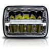 7x6 (5x7) H6054 200mm LED Reflector w/DRL Headlights Chrome Set