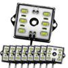 8 Module 48 LED White Exterior Truck Bed Rock Lights