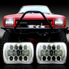 7×6 (5×7) H6054 200mm LED Projector w/DRL Headlights Chrome Set