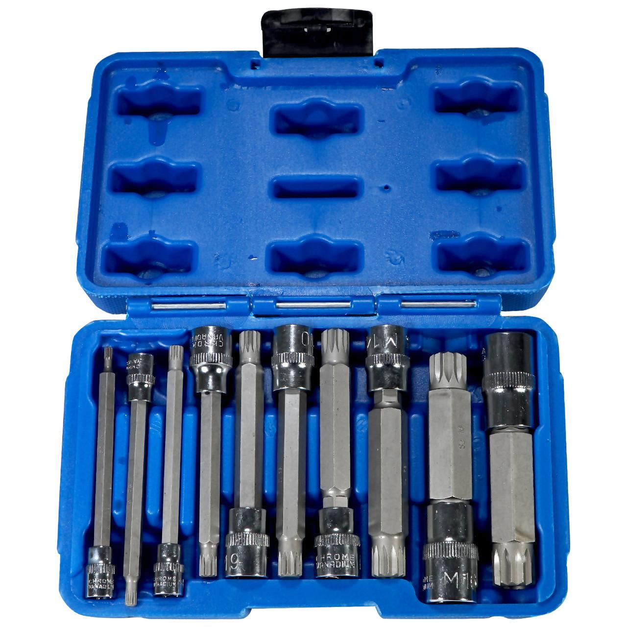 10pc xzn triple square socket kit spline socket bit set long drive 10pc xzn triple square socket kit spline socket bit set long drive metric bits publicscrutiny Gallery