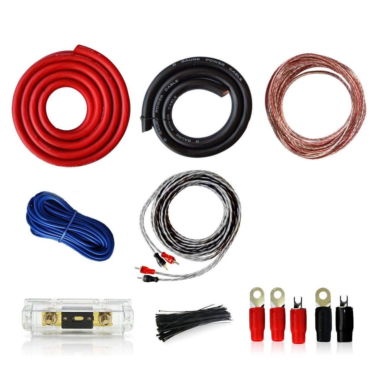 0awg car audio installation wiring kit 0 1 gauge genssi rh genssi com car audio wiring kit walmart car audio wiring kit best buy