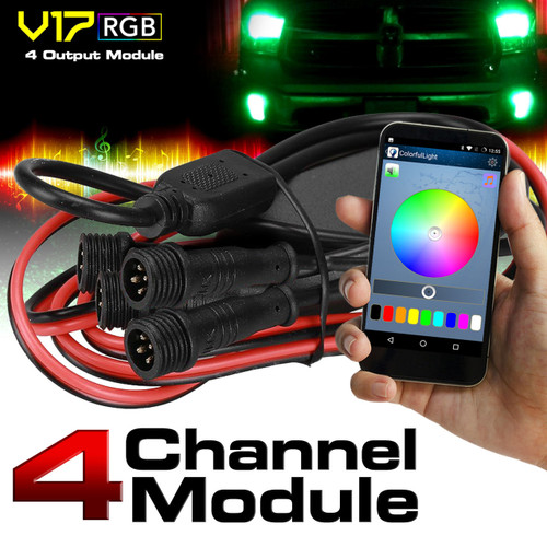 V17 4 Channel Output LED Module Bluetooth