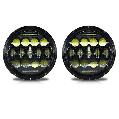 7 Inch Honeycomb Array Black LED Headlights Set