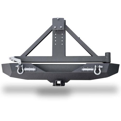 Rear Rock Crawler Bumper and Tire Carrier for Wrangler JK 2007-2017