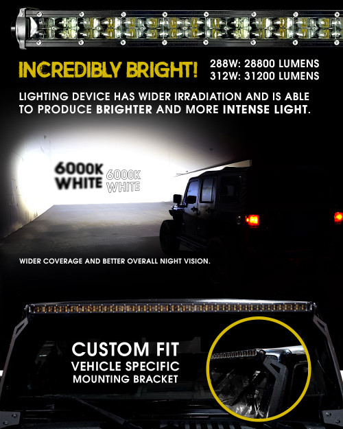 Led light bar curved 288w 50 inches bracket wiring harness kit for led light bar curved 288w 50 inches bracket wiring harness kit for gmc sierra chevy silverado aloadofball Gallery