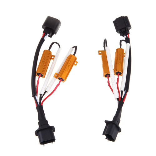 Resistor Capacitor Warning Bulb Out Canceller H13 9008 (2 Pack)