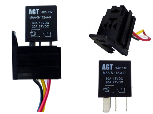 4 pin 30a 12v spst micro relay 10 pack genssi rh genssi com Fan Relay Wiring Diagram Starter Relay Wiring Diagram