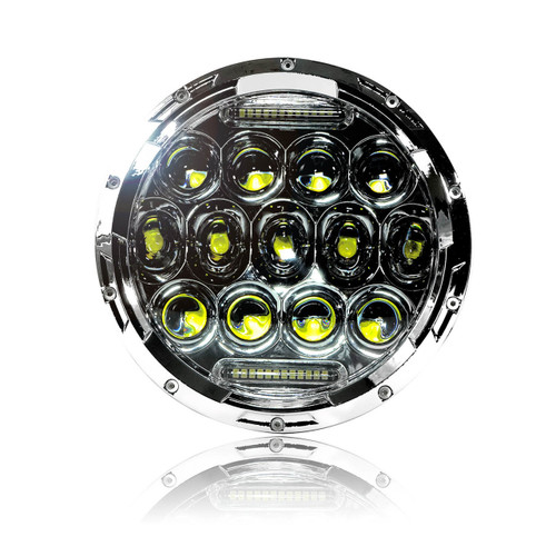 7 Inch Honeycomb Array Chrome LED Motorcycle Headlight