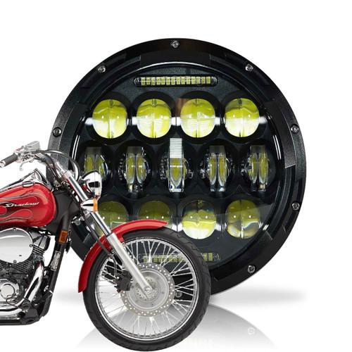 7 Inch Honeycomb Array Black LED Motorcycle Headlight
