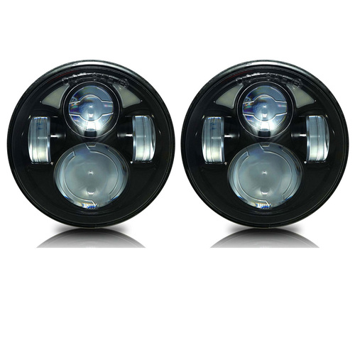 5.75 (5 3/4) Inch LED Black  Projector Headlights Round Set