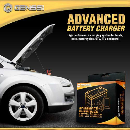 12V Digital Battery Charger Trickle Charging Tender Kit