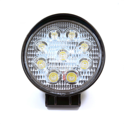 7W Flood Round LED Work Lights Black Housing