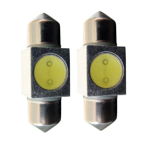 31mm DE3175 3022 3021 1W Festoon LED Dome Map Bulb (2 Pack)