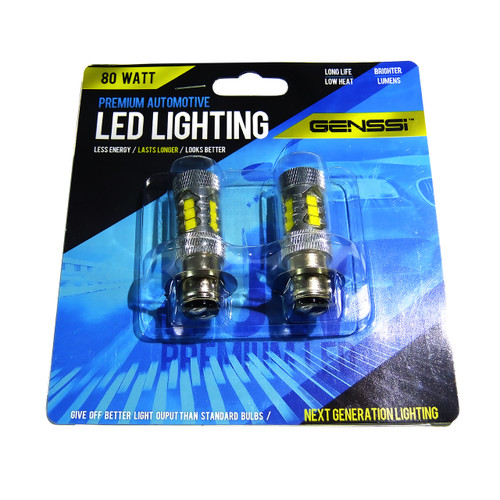 H6M 70023  80W LED Headlight Bulbs (2 Pack)