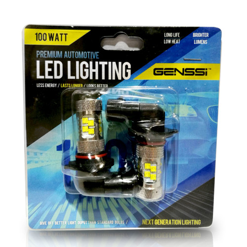9005 HB3 100W LED Headlight DRL Lamp Bulbs (2 Pack)