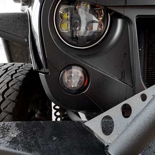 Smoked LED Turn Signal Blinker for Jeep Wrangler JK 2007-2017
