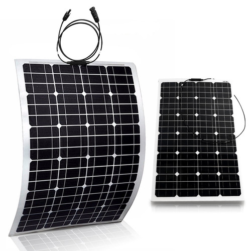 2x Flexible 100W 18V Semi Solar Panel Battery Charger For Home RV Boat 200W