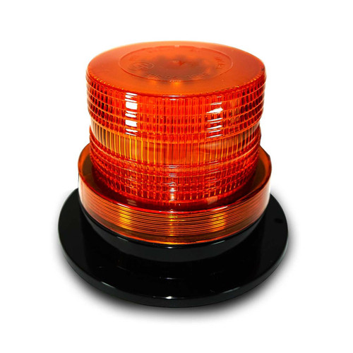 Amber LED Emergency Flash Strobe and Rotating Beacon Warning Light