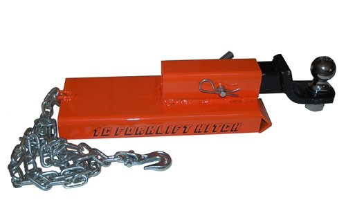 Forklift Towing Receiver Trailer Fork lift Hitch Chain adapter attachment