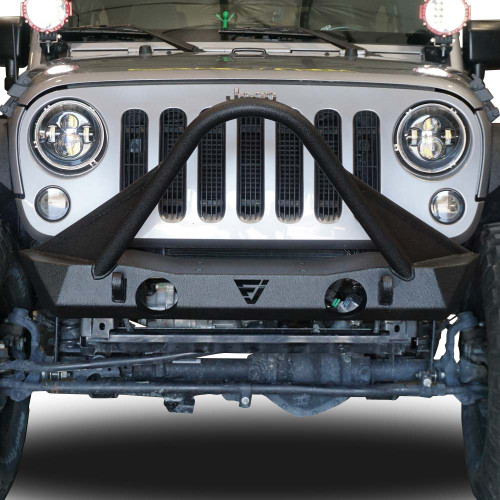 Front high bull bar bumper with oem fog light holes for wrangler front high bull bar bumper with oem fog light holes for wrangler 2007 2018 aloadofball Image collections