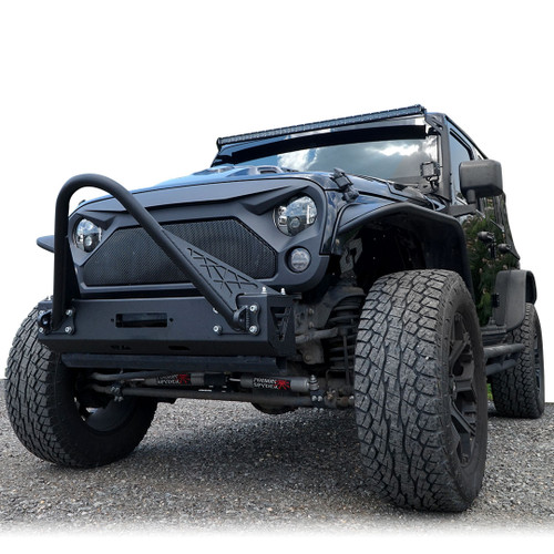 AGGRESSOR Mesh ABS Aggressive Style Grille For Jeep Wrangler JK 2007-2017