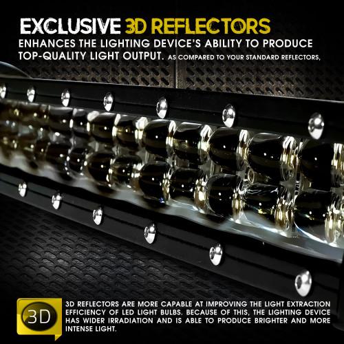 48W 8 Inches Black Spot/Flood Combo LED Light Bar