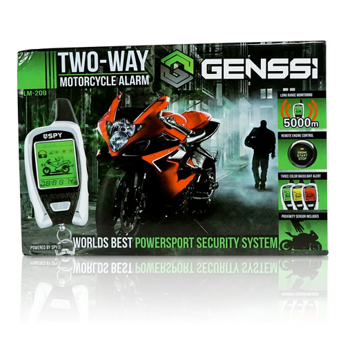 LCD Motorcycle Alarm 2-Way Pager with Remote Engine Start and Proximity Sensor