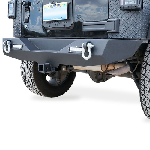Rear Bumper for Jeep Wrangler JK 2007-2017 with D-Rings and LED Reverse Lamps