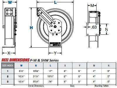 Coxreels P W Shw Series Oxy Acetylene Welding Reel Reel Hose