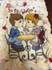 Special Valentine Chocolate Chip Cookie Cake