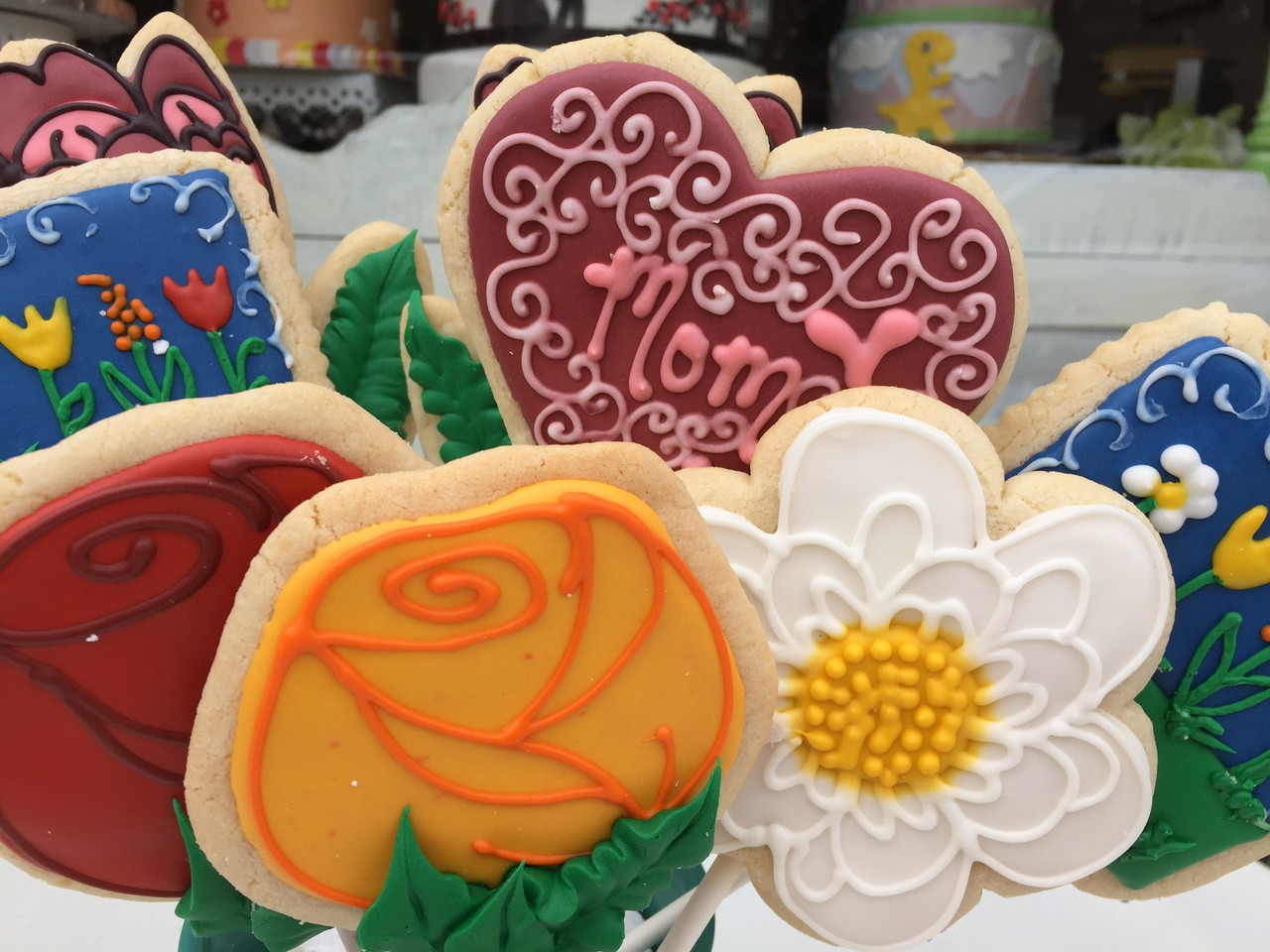 Mother\'s Day Cookie Bouquet - Maggie & Molly\'s Sweet Life