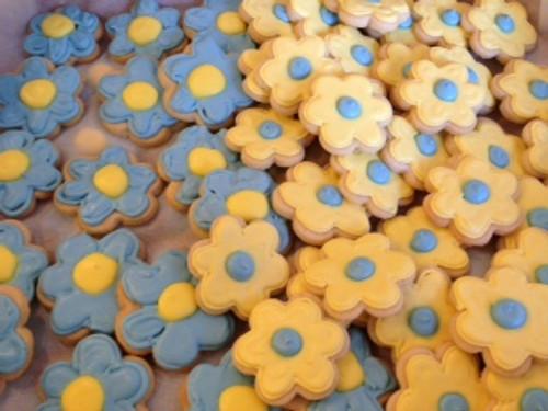 Mini Flower Power Sugar Cookies