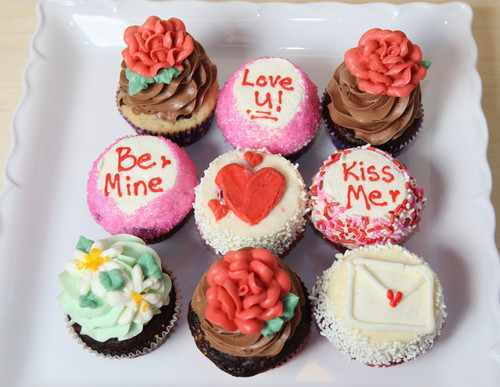 Assortment of Valentine Cupcakes