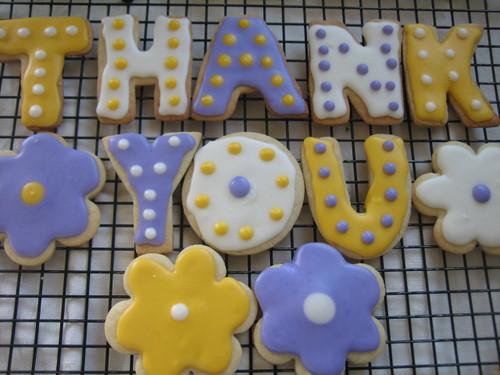 Letter Sugar Cookies
