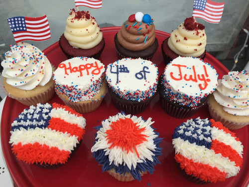 Assortment of Fourth of July Cupcakes