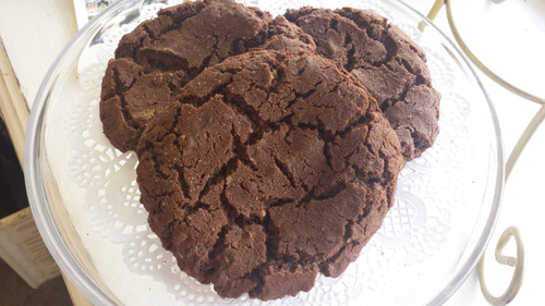 Chocolate Salted Nutella Cookies
