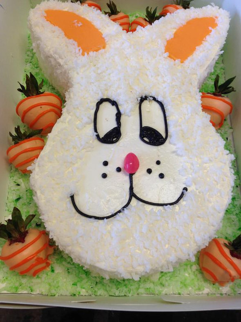 Easter Bunny Face Coconut Cake