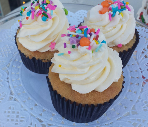 Gluten Free Vanilla Bean Cupcakes