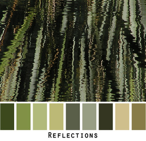Reflections - green sage moss lichen olive grass black pond grass colors for  green eyes, brown eyes,  brunette - photo by Inese Iris Liepina, Wrapture by Inese