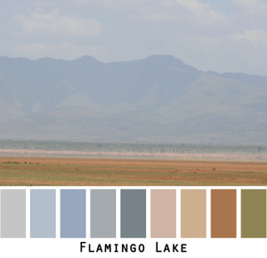 flamingo lake - blue grey gray taupe beige olive slate blue lake and mountains in Aftica for blue eyes, green eyes, brown eyes, blonde hair, brunette, redhead, black hair, gray hair - photo by Inese Iris Liepina, Wrapture by Inese