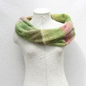 Rhubarb mohair loop scarf Wrapture by Inese Iris Liepina