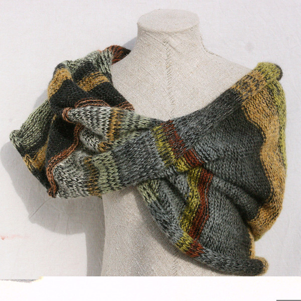 Frozen pond shawl wrap