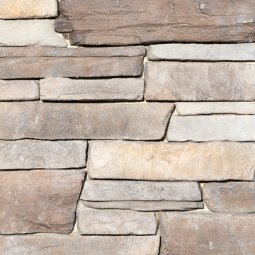 Picture of a Ledgestone Stone Veneer in the Dungeness color palette by Superior Stone (Washington based).