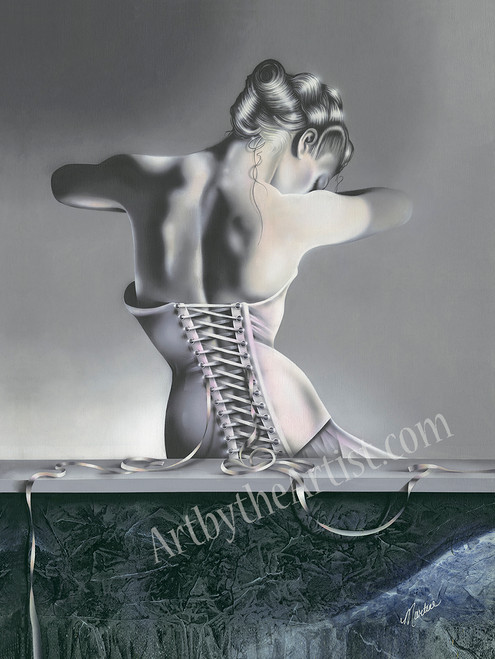 Martine Castoro 'All Tied Up' Giclee on Canvas