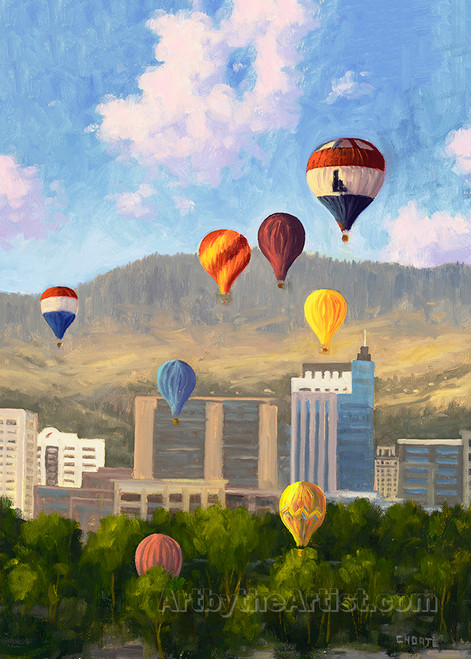 "Fred Choate ""Balloons Over Boise"""