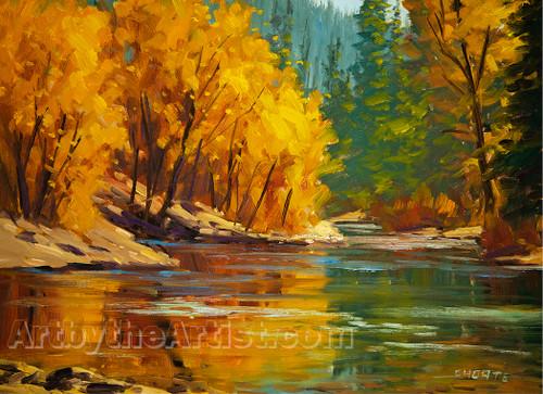 """Fred Choate """"Boise River''"""