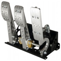 Pro-Race Universal Floor mount bulkhead oriented master cylinders - standard throttle cable