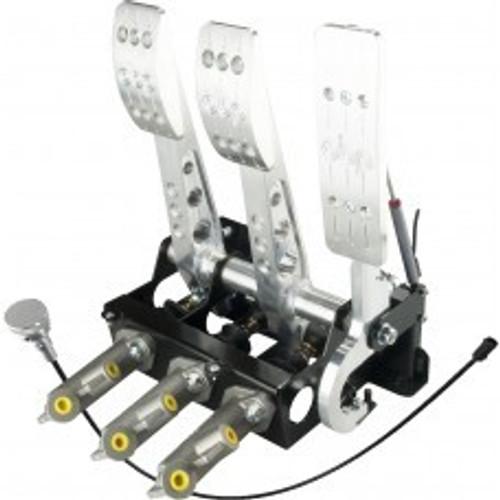 OBP Pro-Race Universal Floor Mount Pedal Box (Cockpit Orientation) (Drive-By-Wire)